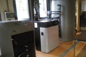 Calefacción con pellet-Energía Solar-Gas